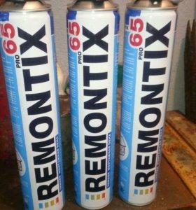 Пена монтажная зимняя remontix, выход 65 литров