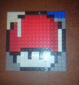 Лего (гриб из марио) пиксель арт