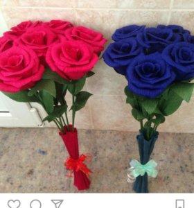 Розы из бумаги, цифры с розами на праздники торт к