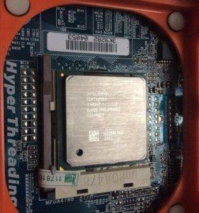 Материнская плата Socket 478 + Pentium 4 2400 Mhz