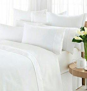 Белье постельное белое натуральное