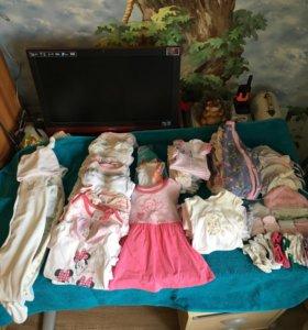 Пакет вещей на девочку 56-74