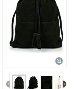 Новый рюкзак натуральная замша