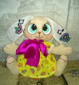 Текстильная игрушка Зайка