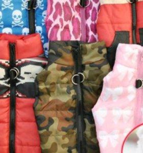 Тёплые комбинезоны, куртки для собак