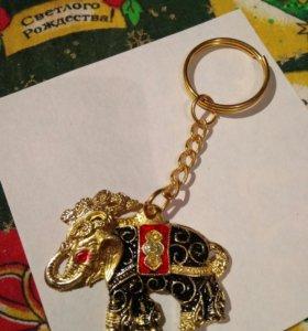 Брелок Слон, Индия, новый