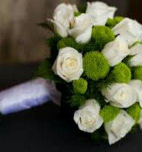 Свадебные букеты на заказ (не дорого)