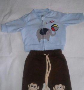 Детский весенний костюмчик (3-6 мес.)