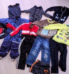 Одежда пакетом на мальчика 2-4 года