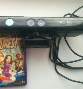 Сенсор Kinect для xbox 360 + игра Kinect adventure