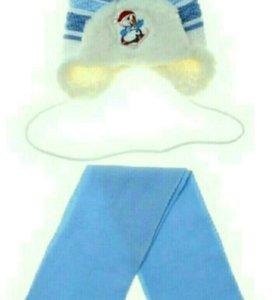 Новая Детская шапка и шарф