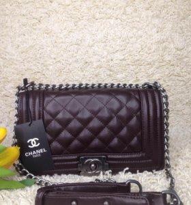 Chanel Boy женская сумка клатч
