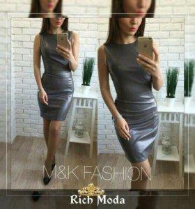 Платье новое эко кожа