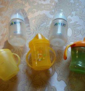 Продам бутылочки и поильники