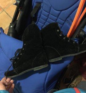 Замшевые кеды ботинки сапожки хз че это
