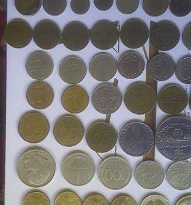 Монеты юбилейные и монеты СССР 70 шт
