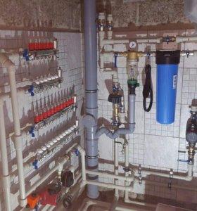 Монтаж системы отопления,водоснабжения,канализация