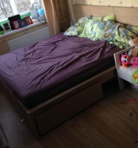 Кровать икеа MALM + матрас