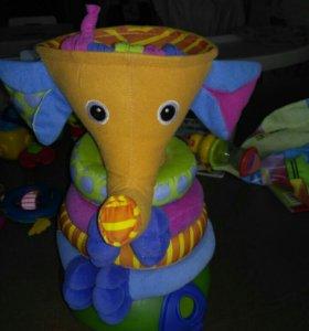 Пирамидка музыкальная слоник tiny love