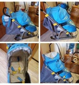 Детские санки-коляска ника 7