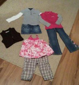Вещи на девочку 4-5 лет. Рост 104-110