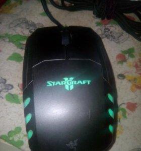 Игровая StarCraft с подсветкой геймерская мышь