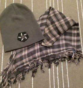 Мужская шапка и платок