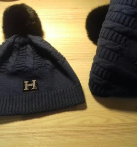 Комплект HERMES (шапка и шарф)