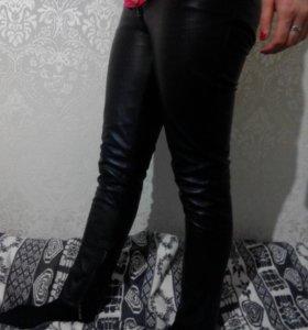 Кожаные брюки на подкладке.Тренд сезона.