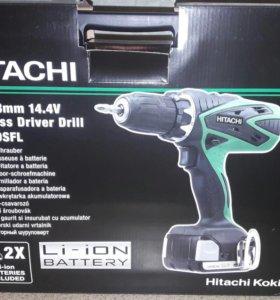 Дрель-шуруповерт аккумуляторная HITACHI DS 14 DSFL