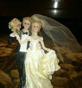 "Платье на бутылку ""Невеста"". Статуэтка."