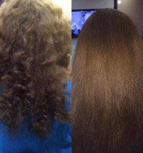 Кератиновое выпрямление и востоновление  волос!