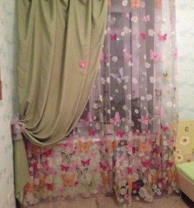 Детская мебель+ штора+тюль