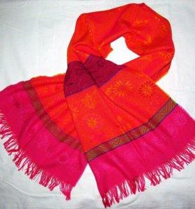 КАК НОВЫЙ! Красивый шарф палантин коралл