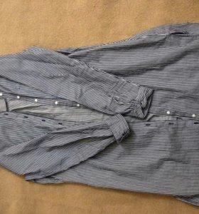 Длинная рубашка в полоску