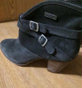 Ботинки натуральные замшевые
