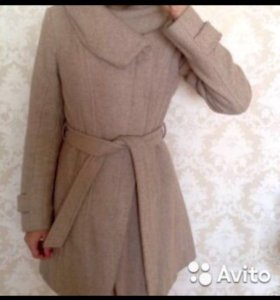 Пальто ZARA осень-весна, размер S 44-42, шерстяное