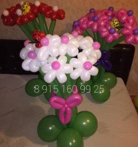 Шикарные букетики из шариков