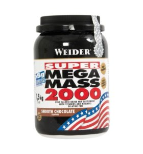 Гейнер Weider Mega Mass 2000 шоколад 1.5 кг
