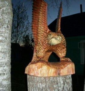 Скульптуры из дерево