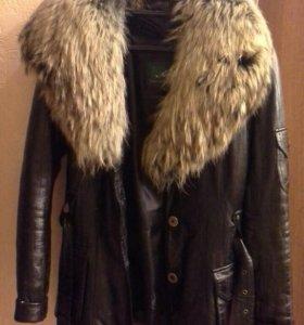 Кожаная куртка с подкладкой