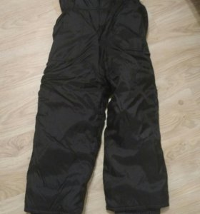 Теплые брюки-комбинезон