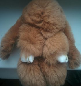 Меховой брелок кролик Новый