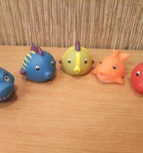 игрушки для купания резиновые