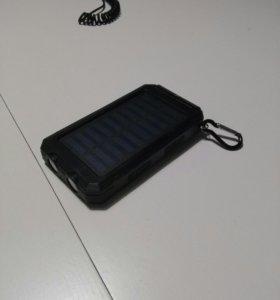 новый powerbank(внешний аккумулятор) на солнечных