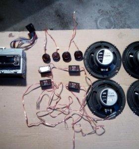 Автомагнитола JVC KDX-115 с акустикой