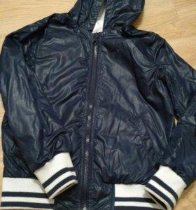Куртка на мальчика двухсторонняя тонкая