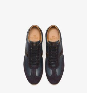 Massimo dutti contrast leather sneakers