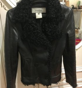 Кожаная куртка с овчиной