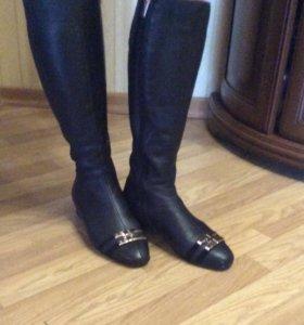 Сапоги кожаные на флисе Glamur